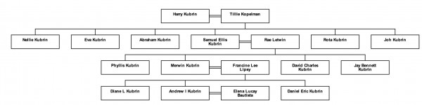 The Kubrin family tree